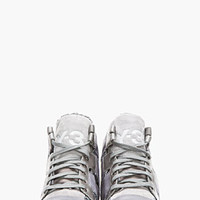 GREY LEATHER GLITTER INKAR SNEAKERS