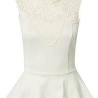 ADELLE PEPLUM LACE TOP