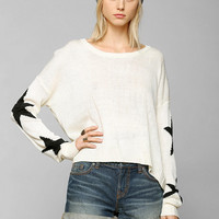 Staring At Stars Star-Sleeve Sweater - Urban Outfitters
