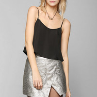 Backstage Metallic Galactic Mini Skirt - Urban Outfitters