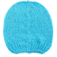 Blue Knitted Sequined Beanie