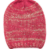 Red Sequined Colored Beanie
