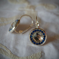 Rhinestone Earrings from Handmade Bijoux