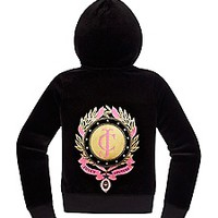 Girls Original Jacket in Foil Ribbon Velour