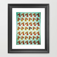 Red Nose Unicorn Framed Art Print by That's So Unicorny