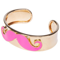 ROMWE | Mustache Cuff Bracelet, The Latest Street Fashion