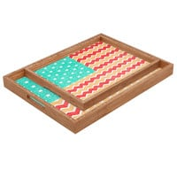 Nick Nelson Zig Zag Flag Rectangular Tray