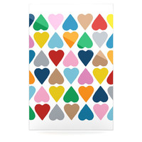 KESS InHouse Diamond Hearts Floating Art Panel
