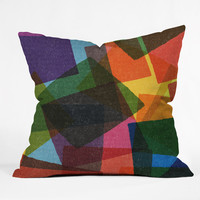 Nick Nelson Square Miles Throw Pillow