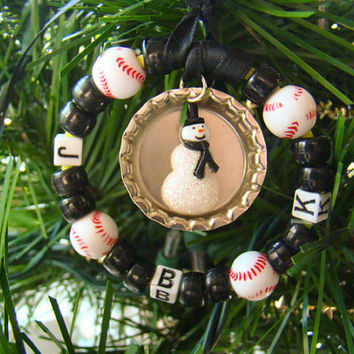 Personalized Christmas Ornament - Christmas sports ornament- sports ornament
