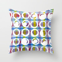 Blue Pattern Throw Pillow by LacyDermy