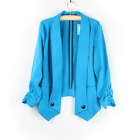 Sky Blue Fashion Light Blazer Jacket
