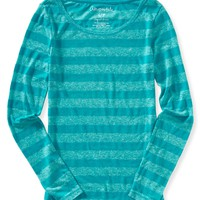 Long Sleeve Shadow Stripe Tee
