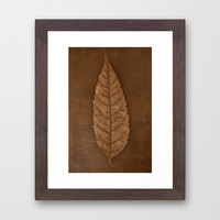 Dead Brown Framed Art Print by RichCaspian