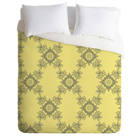 Lara Kulpa Ornamental Yellow Duvet Cover