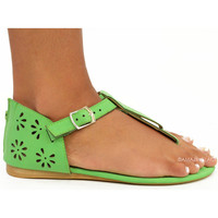 Perdido Bay Green Cut Out Sandals