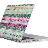 Pandamimi ULAK(TM) Matte Rubberized hard shell Case Cover For Apple Macbook Pro 13 inch A1278 + Mini Phone Stand (A Aztec Tribal)