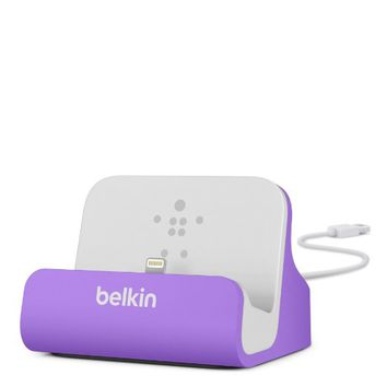 Belkin Charge and Sync Dock with Lightning Cable Connector for iPhone 5 / 5S / 5c and iPod touch 5th Gen (Purple)
