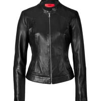 Hugo - Leather Moto Jacket