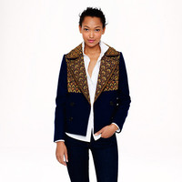 PRE-ORDER COLLECTION GOLD BULLION PEACOAT IN ITALIAN WOOL