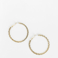 Sculpted Chain Hoop Earring - Urban Outfitters