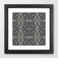 Frozen Black Framed Art Print by Project M