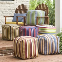 Colorful Outdoor Ottoman Cubes With Eco-Friendly Recycled Polyfill - Plow & Hearth