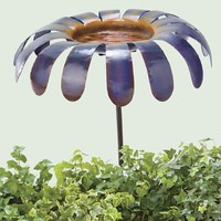 Handmade Oversized Flower Birdbath - Plow & Hearth