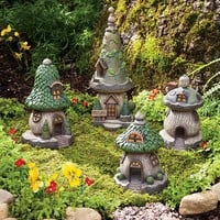 Set of 4 Polyresin Outdoor Gnome Homes - Plow & Hearth