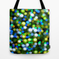 Christmas Tree Pine Lights Tote Bag by RichCaspian