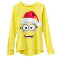Despicable Me Santa Hat Minion Tee - Girls 7-16