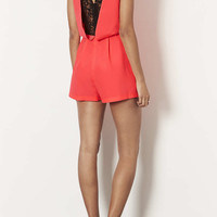 FLURO LACE BACK PLAYSUIT