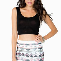 Soft Aztec Sequin Skirt