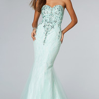 Floor Length Strapless Sweetheart Mermaid Dress