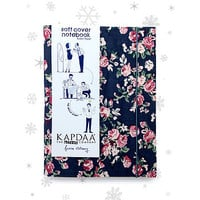 A6 Floral Fabric Soft Cover Notebook