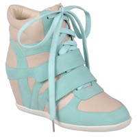 Hailey Jeans Co Womens Lace-up Wedge High-top Sneakers