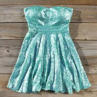 Wishing Star Party Dress in Mint