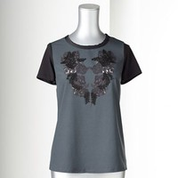Simply Vera Vera Wang Embellished Mixed-Media Top