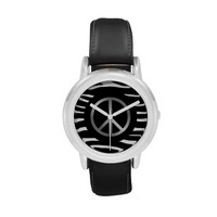 Silver Peace Sign Watch
