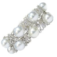 Exclusive Pearl and Diamond Bracelet