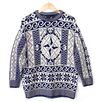 Big Compass Soft Oversized Slouchy Men's Ugly Ski Sweater