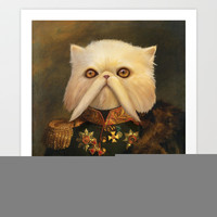 Persian Cat Emperor Art Print Promoters