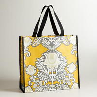 Yellow and Gray Summer Goddess Tote