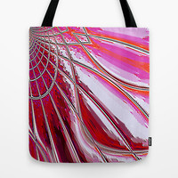 Re-Created Web of Lies2 Tote Bag by Robert S. Lee