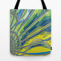Re-Created Web of Lies3 Tote Bag by Robert S. Lee