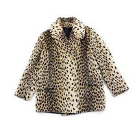 vintage 1960's faux LEOPARD gold button coat by clevernettle