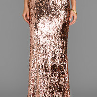 Free People Sequins for Miles Skirt in Rose Gold