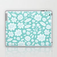 Blue Floral Laptop & iPad Skin by Ornaart