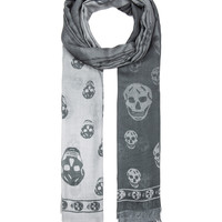 Degrade Modal Skull Scarf in Cloud & Ivory