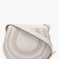 GREY LEATHER SMALL MARCIE SHOULDER BAG